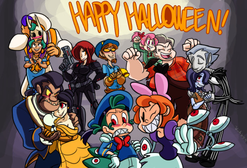 skulldudes:  Happy Halloween, everybody! We've got some Disney-themed costumes all up in here, Can you guess them all :)?