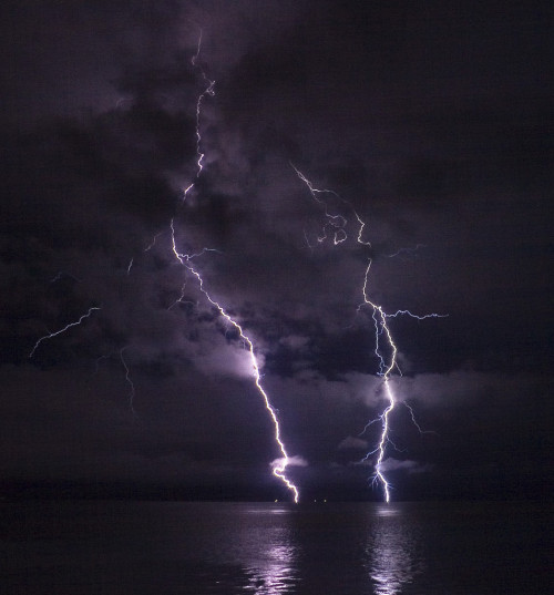 Lightning On The Columbia River
