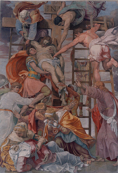 Descent from the Cross, by Daniele da Volterra; 1545