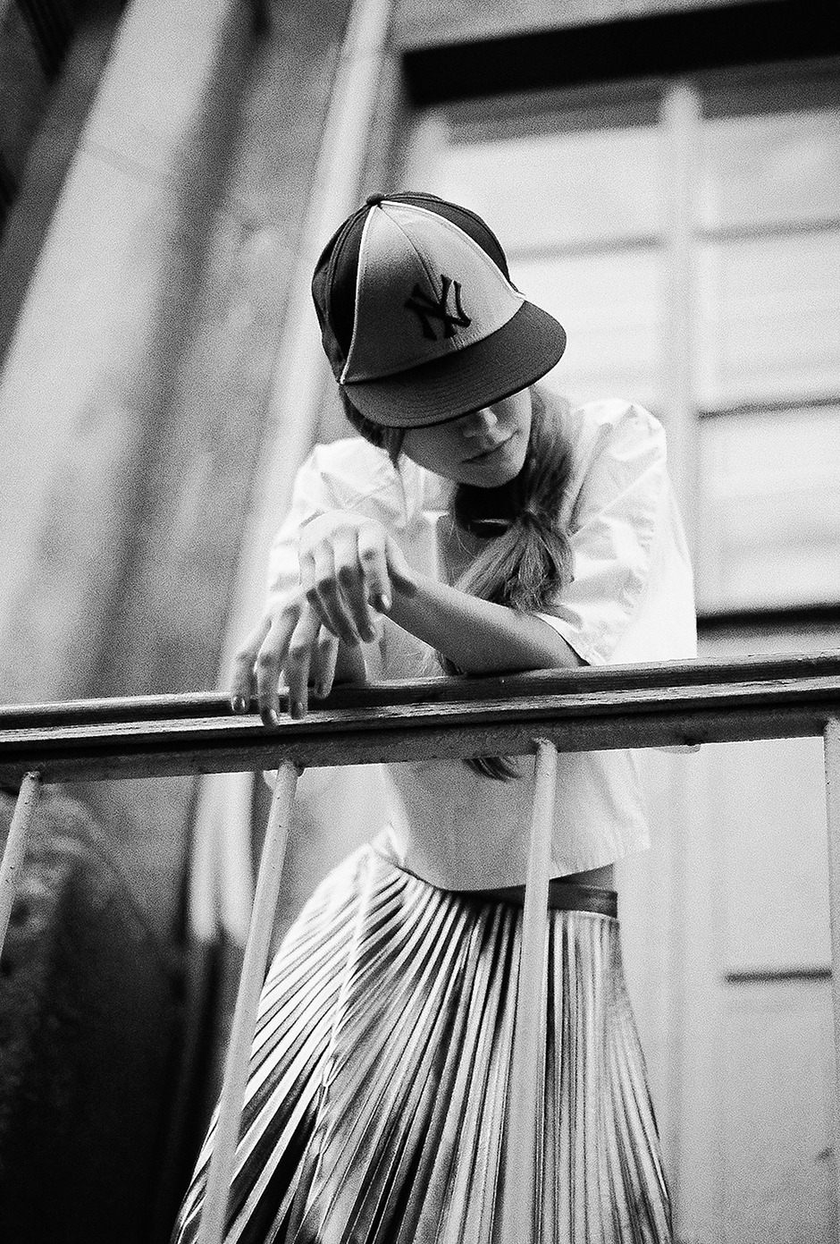 "stormtrooperfashion:  Eugene Skvarskaya in ""Between Walls"" by Tasya Kudryk for REVS Magazine, October 2012"
