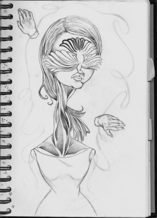 Makayla Armijo not yet titled. inspiration: arthritis. sketch book progress    -you have birds in your eyes.