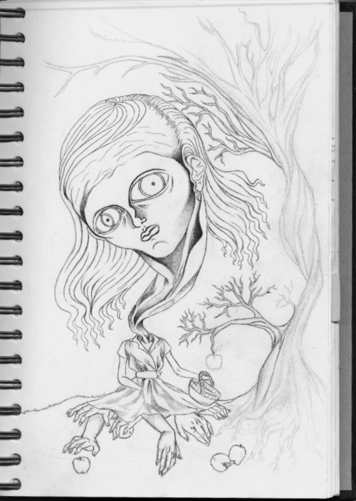 "Makayla Armijo yet to be titled reaching forever, sketch book progress.   -""hustle hard in any hustle that you pick"" - jay z"