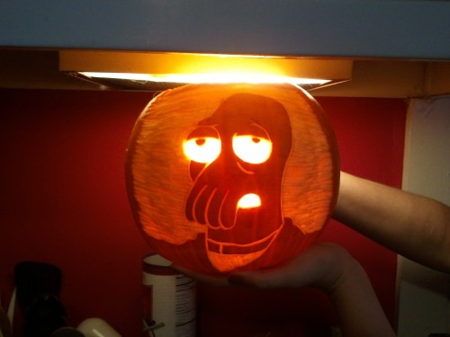 Need a subject for your jack o lantern?  Why not Zoidberg? via comedycentral