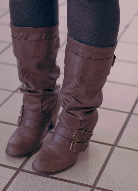 Boots from Shy blogger Luchia
