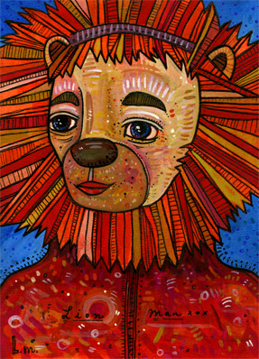 heybeast12:  365 Critters - Day 206 - Lion Man - Darci - Norman, OK Follow this project on Hey Beast Studio's Facebook.