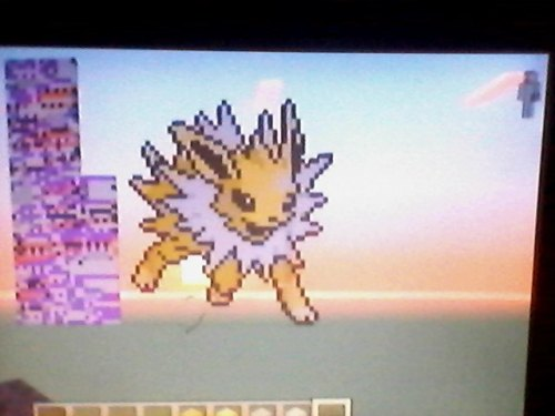 There is your Jolteon, Cat! :D   Omfg my fave pokemon! It's so good! Awwh I love love love it :'3