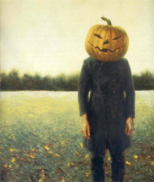 Jamie Wyeth, Pumpkinhead (Self-Portrait), 1972.