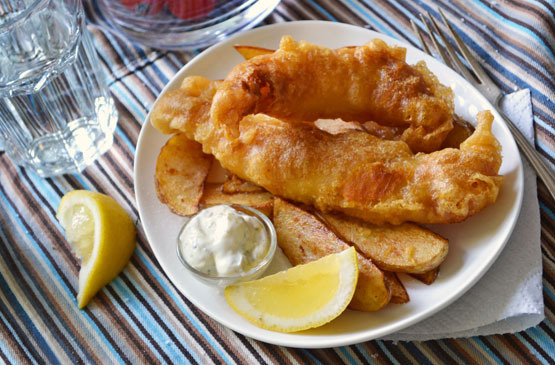 Homemade fish & chips. If you want.