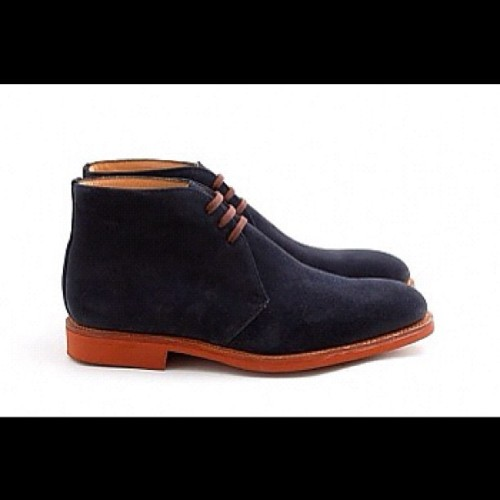 handy dessert boot @leffot #Barrow Midnight Suede on a nicely contrasting brick dainite sole http://leffot.com/shop/leffot-barrow-cola-suede/