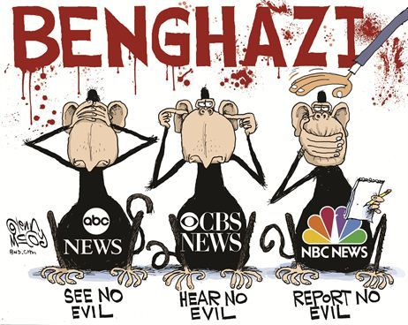 The three obama monkeys with live reports from Benghazi
