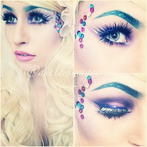 mystical mermaid makeup! follow ashleyswagner.tumblr.com and on instagram @ashleyswagnerxo  :3