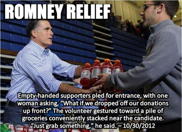 Team Romney: You say disaster. I say photo-op.
