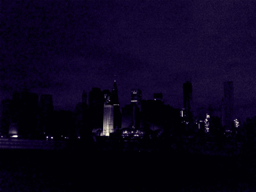 Positively post-apocalyptic. (The skyline of Manhattan from downtown Brooklyn.)