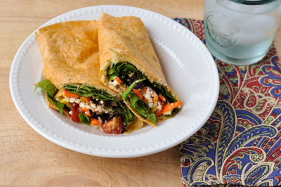Greek Veggie Wraps with recipe (link)