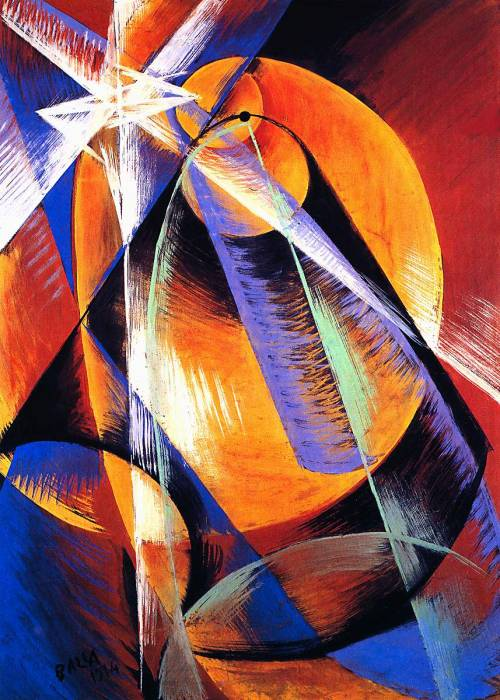cavetocanvas:  Giacomo Balla, Planet Mercury Passing In Front of the Sun, 1914