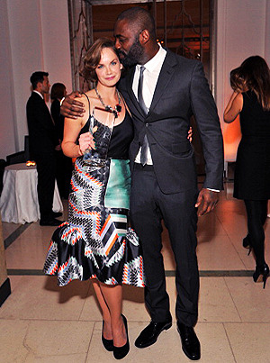 Idris Elba & Ruth Wilson attend the Harper's Bazaar Women of the Year Awards (London, Oct. 31st 2012)