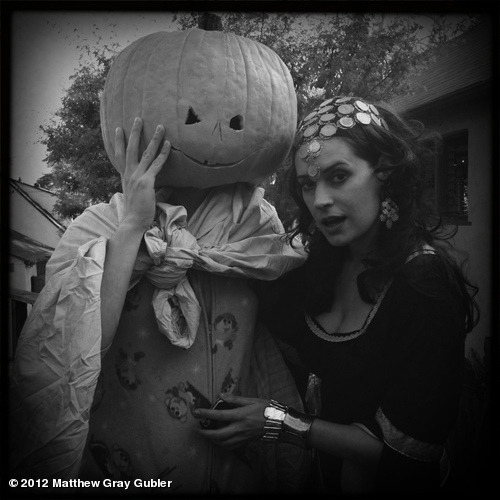 gublernation:  me and @pagetpaget Halloween 2012 View more Matthew Gray Gubler on WhoSay