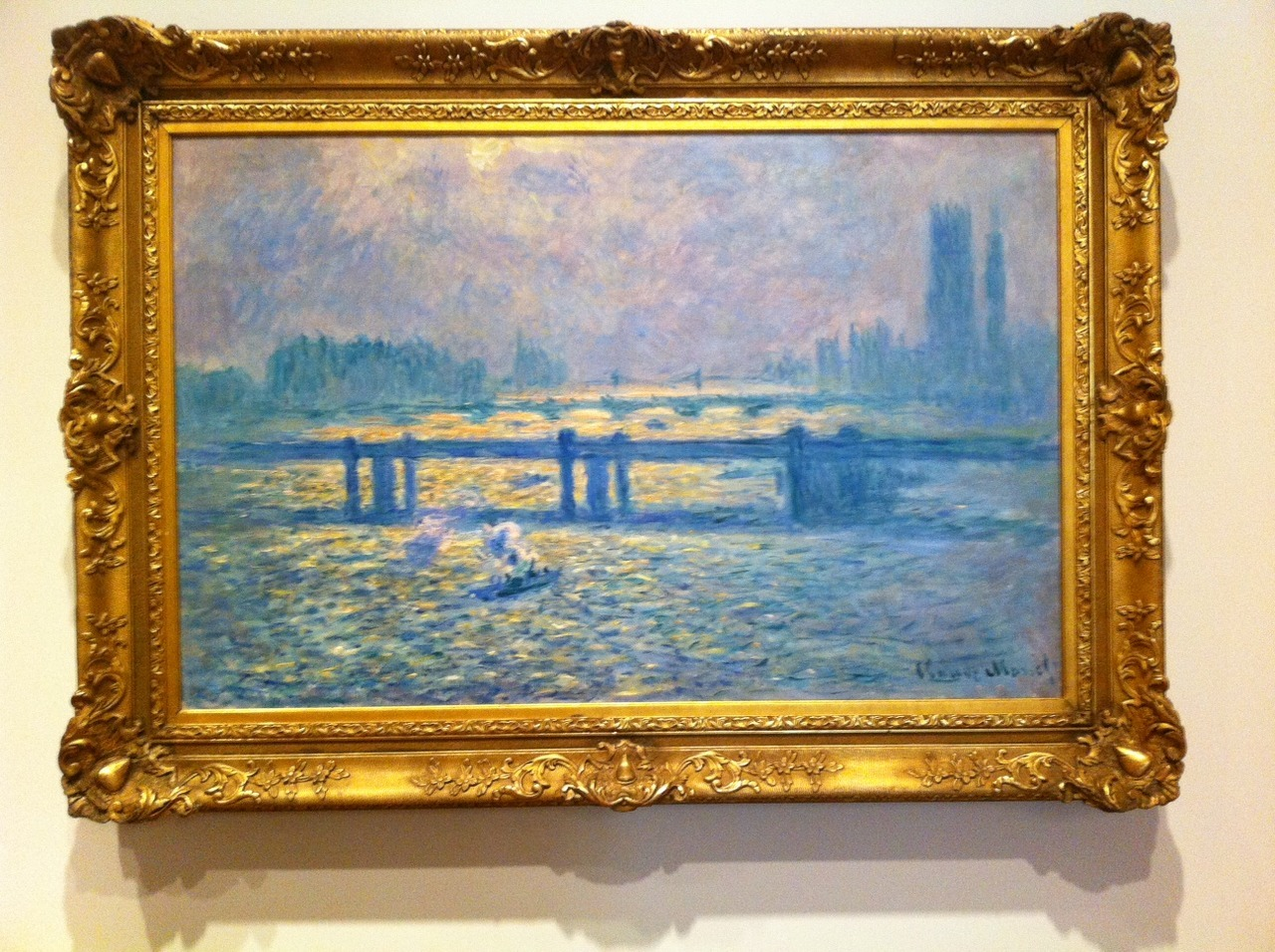 Shot this when I went to the BMA, It's gorgeous! Claude Monet- Waterloo Bridge, Sunlight Effect with Smoke, Oil on Canvas, 1903
