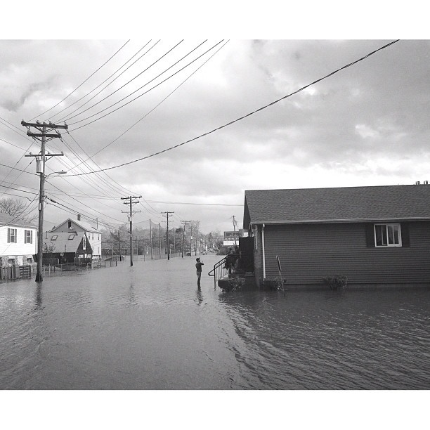 Branford, CT yesterday after #HurricaneSandy // Edited with the Wood Camera app — available in the App Store.