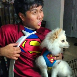 Appa and superman #nofilter #superman