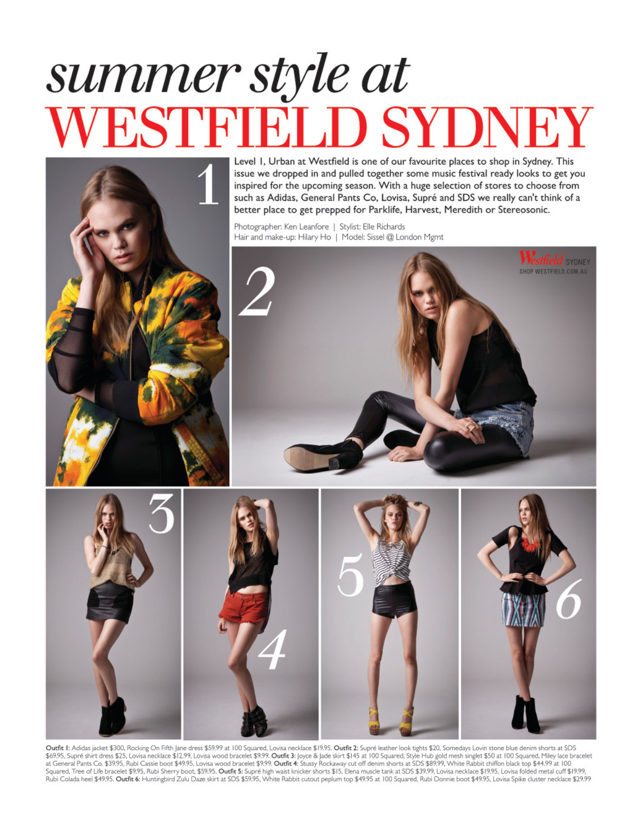 Westfield Sydney X Fashion Journal (September 2012 Issue) Photography - Ken LeanforeStyling - Isabelle RichardsHair / Makeup - Hilary HoModel - Sissel @ London MGT