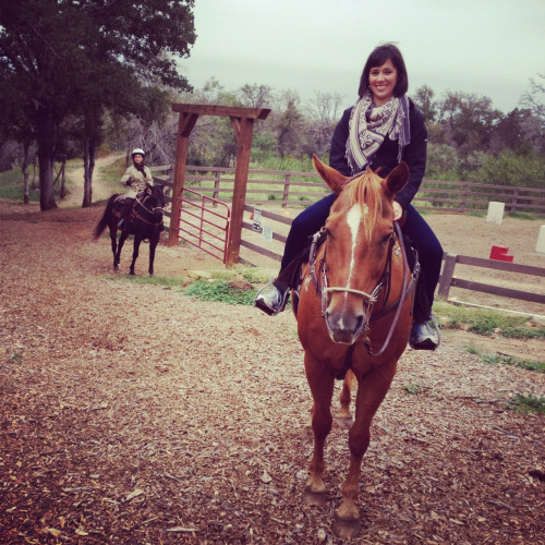 "First time horseback riding at my works ""Strategic"" Offsite Meeting."