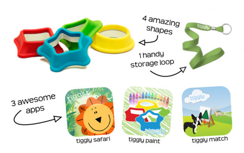 "The Tiggly Educational App Lets Babies Learn Shapes On Your Expensive Tablet John Biggs, techcrunch.com Tig­gly is a toy for kids who might be past the ""teethe on your iPad"" and just below the ""I want to play the birds game"" stages of men­tal devel­op­ment. Designed by a par­ent, Steve Miller of Cam­bridge, MA, the sys­tem includes three lit­tle sha…"