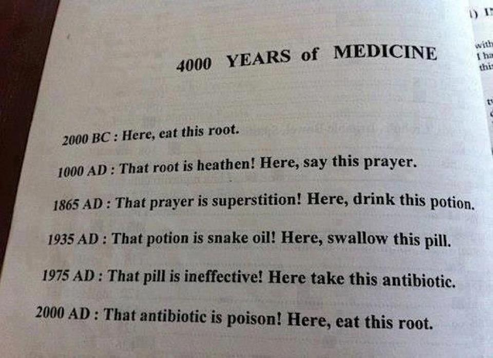 4000 years of medicine.  Tee hee.