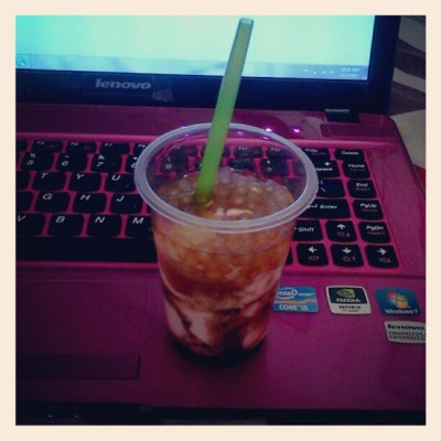 TAHO while watching Chef Boy Logro. :))) #taho #undas #cookingshow #mcdobfasttoo