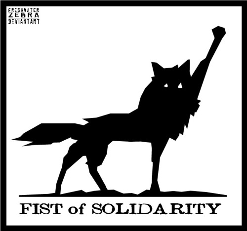 Fist of Solidarity by FreshWaterZebra