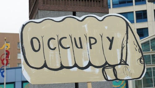 #OccupySeattle Fist.