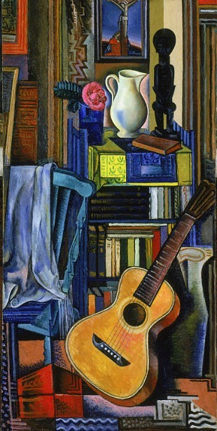 Jean Négulesco Guitar and White Vase 1929