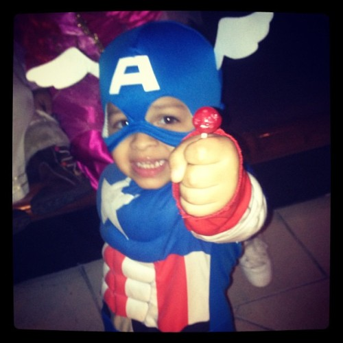 #HappyHalloween from my family to all of urs! #CaptainAmerica (at The Cheesecake Factory)