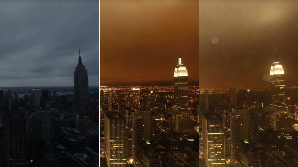Watch Hurricane Sandy Attack New York City Over Four Days By Casey Chan The New York Times has an incredible timelapse video that shows Hurricane Sandy attacking New York City over the course of four days. From Sunday to Wednesday, you get the view of the storm from the 51st floor of the New York Times building. Things get insane and you can see the lights go off in half of the buildings. Head over to the NY Times to see it. [New York Times]