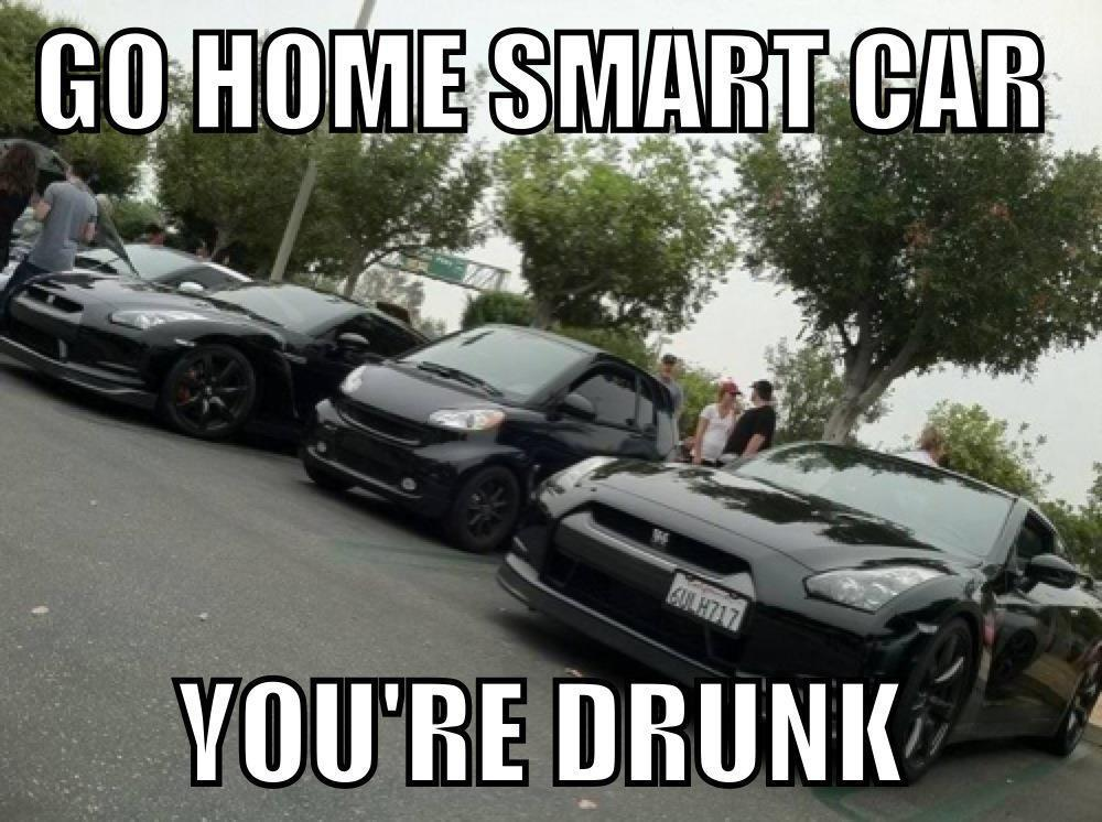 eyelovecars:  Smart Car & Godzillas