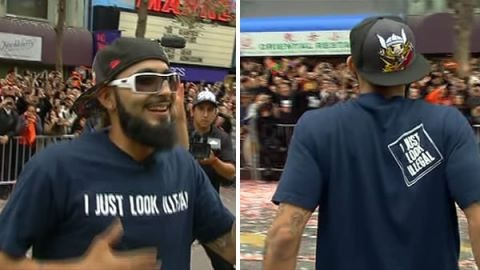 "thinkmexican:  Sergio Romo's 'I Just Look Illegal' T-Shirt Is a Mockery, Validates Racism  San Francisco Giants pitcher Sergio Romo made a political statement by wearing a t-shirt with the words ""I JUST LOOK ILLEGAL"" to the team's World Series victory parade and celebration. But it was a very poor choice that sends the wrong message and validates racism and ignorance.  What does the phrase ""I just look illegal"" really mean?  It's based on the premise that there are people who are ""illegal,"" and thus people who ""look illegal,"" a term intended to dehumanize migrant workers in the United States, specifically those who make up the majority of this group, Mexicans.  By stating that one ""just looks illegal,"" the implicit message is that it's okay criminalize people based on their appearance, as long as we distinguish between those who are ""illegal"" and those who only appear to be based on heritage and phenotype.  The other message being sent with this shirt is that of racial self-mockery. Sergio seems to want to say: I'm Mexican, but I'm a jokester; I'm not a threat.  As we all well know, in the United States, Mexican Americans have been routinely stopped, arrested, and even deported under Barack Obama's aggressive quota-based system of immigration enforcement. In the case of Raúl Castro, you can be a former US ambassador and governor of Arizona and still be detained by the US Border Patrol. And not just once, but several times.  ""Illegal immigration"" became a national issue around 2006 and has, unfortunately, framed much of the discussion related to the US Mexican community. So it's no surprise that such a message made its way to the Giants' World Series championship celebration. The word ""illegal"" and all of its loaded connotations are everywhere.  What's disturbing is the fact many are lauding Romo for wearing the shirt and sending such a misguided message.  Imagine an African American wearing a shirt saying: ""I JUST LOOK LIKE A MONKEY,"" or a gay man wearing one that reads: ""I JUST LOOK LIKE A CHILD MOLESTER."" This may sound absurd today, but the fact is, both communities at one time faced the same dehumanizing treatment Mexicans are facing in the media and popular culture today. By using the term ""illegal"" as Romo did with his t-shirt, we further normalize the violence directed at our community from both institutions and individuals.  Furthermore, the same extreme right-wing organization, FAIR, largely responsible for popularizing the term ""illegal"" in recent years has been tied to a group using a mocked up image of a gorilla in a suit with the title ""They Walk Amongst Us.""  The link between today's institutional dehumanization of Mexicans and that of Africans in that far removed. Both are rooted in the concept of white supremacy. In fact, the very notion of illegality of people in the United States can be traced back slavery.  It's very likely Sergio Romo was attempting to make a political statement by wearing this shirt, a positive one. He may've meant to echo a message repeated by many in recent years: ""We are not illegal; no human is illegal,"" but he failed in the delivery.  In the off season, Romo can pick up a copy of Rudolfo Acuña's ""Occupied America."" He'll learn that not only are we not ""illegal,"" but that we come from a long line of people who fought for the dignity of our community. If so, maybe next year he can wear a shirt that says something more aligned with our traditions and is historically accurate. Here's a suggestion: ""We didn't cross the border, the border crossed us!""  Stay Connected: Twitter 