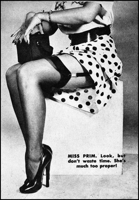 Legs reveal the woman type #1 (Prim) , c.1950  detail from image found here vintage scans