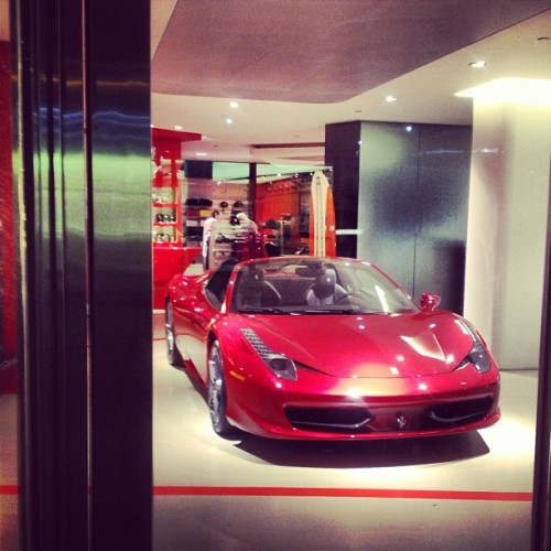 Y is there a Ferrari in the lobby ?