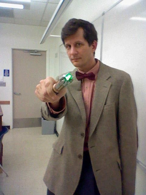 "So my professor cosplayed as the 11th Doctor today in class. He started class with, ""So you remember the film we watched yesterday…"" Everyone was really confused because we only have class once a week, so someone was like YOU MEAN LAST WEEK? And without missing a beat, he's like, ""Well, I can travel anywhere in time and space, it was just yesterday for me!"""