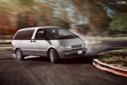 Drifting a Previa? Next, someone does it for real.