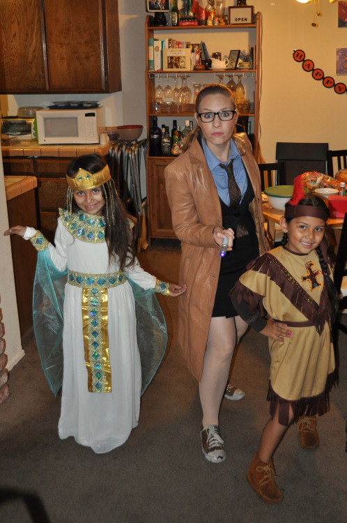 thetardis:  The Doctor taking a young Cleopatra and Sacagawea out for a night of Trick-or-Treating.