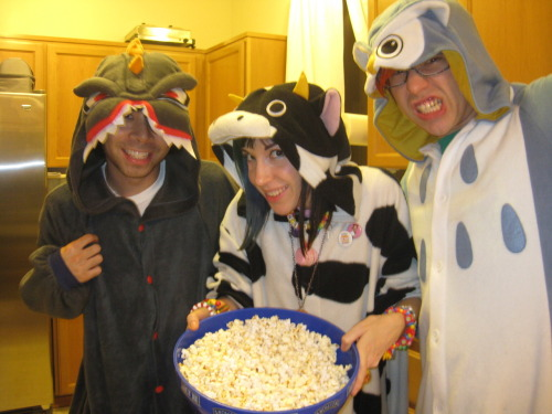 kigurumi pop corn party ^_^ <3 Halloween~