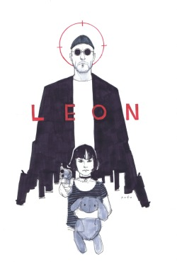 rumandskeletons:  alexhchung:  Léon: The Professional by Phil Noto  Another movie I could never live without revisiting.