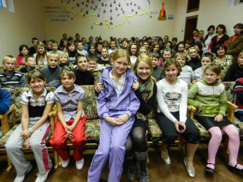 maybesproutwings:  photo of me with the students of School #3 after our healthy lifestyles seminar  Note: today is my last day as a Peace Corps Volunteer… it's been a wild ride. :)  Congratulations and thank you for your service!