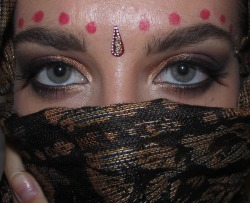 "Eye makeup from my ""Bollywood Princess"" halloween costume"