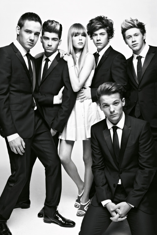 british-vogue:  One Direction shot with Edie Campbell by Patrick Demarchelier for the December 2012 issue.
