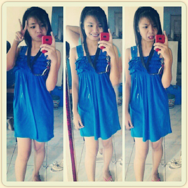 #me#filipino#girl#asian in #bluedress HEHEHE..