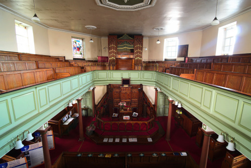"Today's Photo Radiated Friendship. Inside the world's oldest methodist church, Hepstonstall Methodist Church, Heptonstall, Yorkshire. The place is left unlocked for people to freely explore the place. Though it's octagonal, it's surprisingly roomy inside with two floors and very old. Two books are left open for visitors: one is for people that visitors wish the church to pray for, the other is for visitors to leave messages to the church. I left a note saying, ""I hope my photo does this place justice."" I hope I have achieved that."