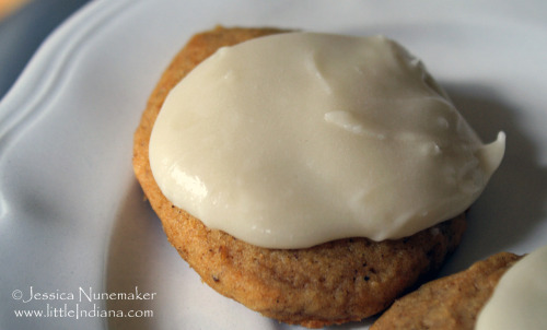 Soft Pumpkin Cookies with Frosting. These are SO VERY GOOD!