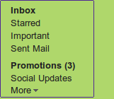 "Gmail Smart Label for Social Updates y +  Just like the previous smart labels for notifications, forums and bulk messages (now called ""promotions""), the new smart label can be hidden, renamed or even removed from Gmail's settings page."